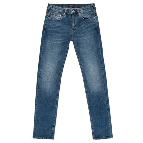 Streatch Denim paul smith s slim fit mid wash stretch denim in blue for lyst