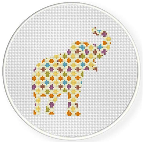 abstract pattern cross stitch charts club members only abstract elephant cross stitch