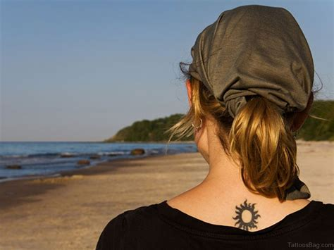 54 latest sun tattoos for back