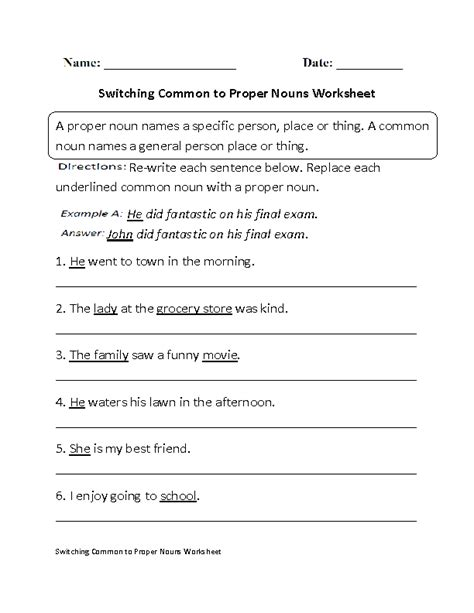 Noun Worksheets For High School by 17 Best Images Of Parts Of Speech Worksheets High School