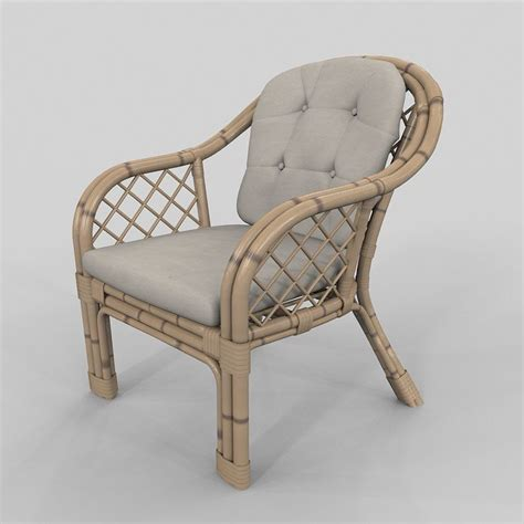 Bamboo Armchair by Armchair Bamboo Classic 3d Model Max Cgtrader