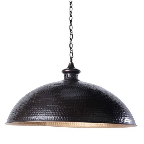 lagos hammered metal ceiling light in black and gold d