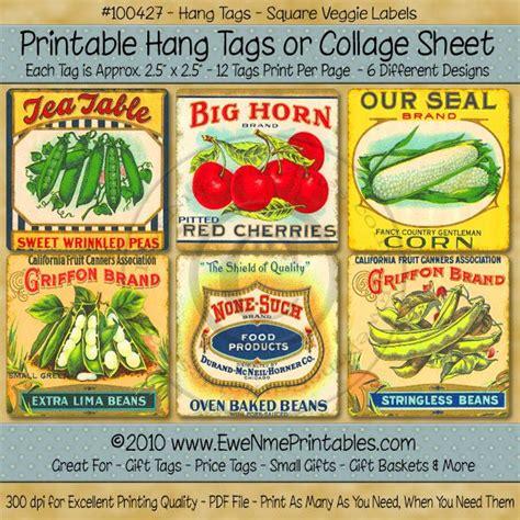 printable vegetable labels hang tags vintage vegetables labels paper craft tags