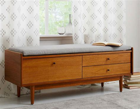 storage bench west elm mid century entryway bench by west elm retro to go