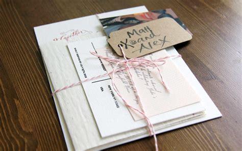 s diy letterpress wedding invitations