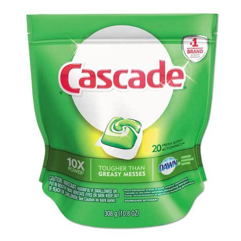 cascade 0 67 oz packs automatic dishwasher tabs