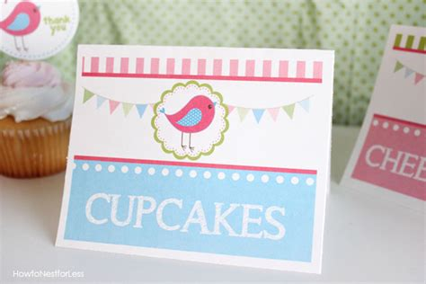 Food For Less Gift Card - bird themed birthday party with free printables how to nest for less
