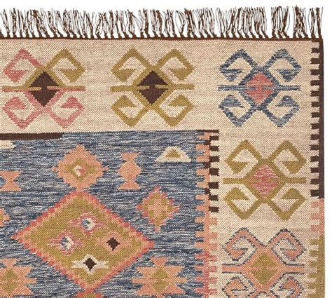 Kilim Outdoor Rug Galway Kilim Recycled Yarn Indoor Outdoor Rug Pottery Barn