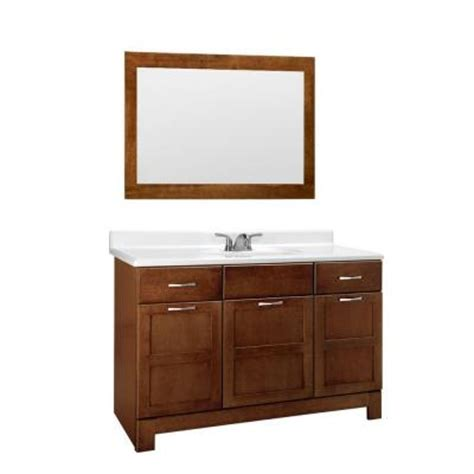Home Depot Vanity Mirror by Casual 48 In W X 21 In D Vanity Cabinet With Mirror In