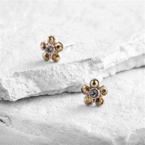 Flower Stud gold flower stud earrings world market