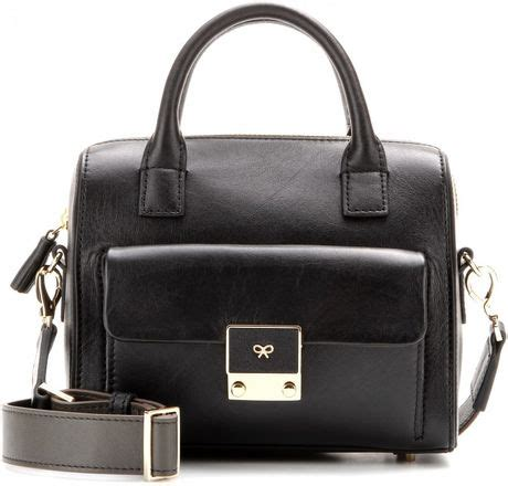 Anya Hindmarch Carker by Anya Hindmarch Carker Barrel Mini Leather Shoulder Bag In