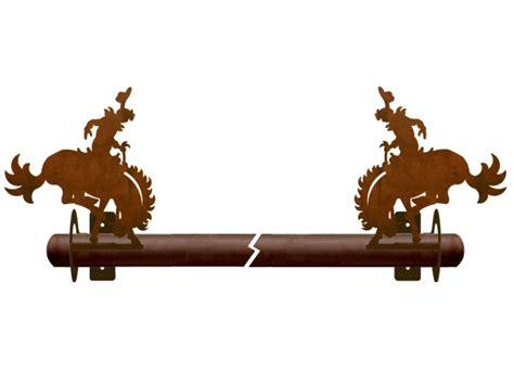 western curtain rod holders bucking bronco rider metal curtain rod holders rustic
