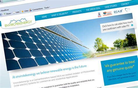 solar energy websites envirotekenergy solar panels ammanford website design