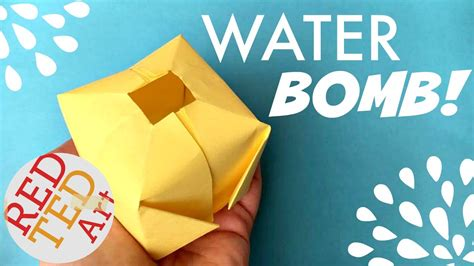 easy origami water bomb diy aka paper balloon
