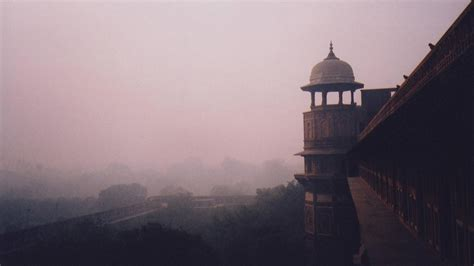 Forest fog asia fort india indian architecture wallpaper