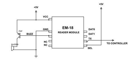 Em18 Rfid Reader Module Pinout Equivalents Circuit