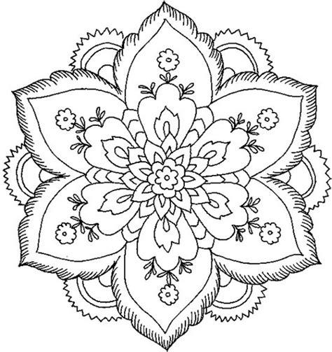 Mandala Coloring Pages Big Mandala Coloring Pages In