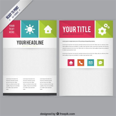 booklet template vector free download