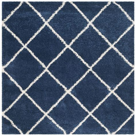 7 ft square area rugs safavieh hudson shag navy ivory 7 ft x 7 ft square area rug sgh281c 7sq the home depot