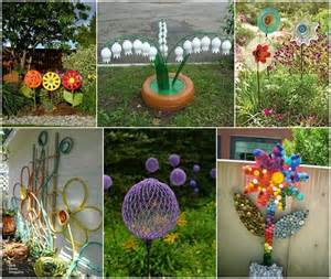 Garden With Recycled Materials 10 Creative Flower Crafts For Garden Made From Recycled