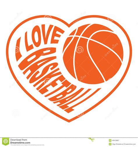basketball clipart images basket au coeur 4 illustration de vecteur