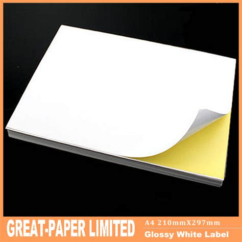 sticker printing paper types 80 pcs a4 blank white paper self adhesive sticker paper