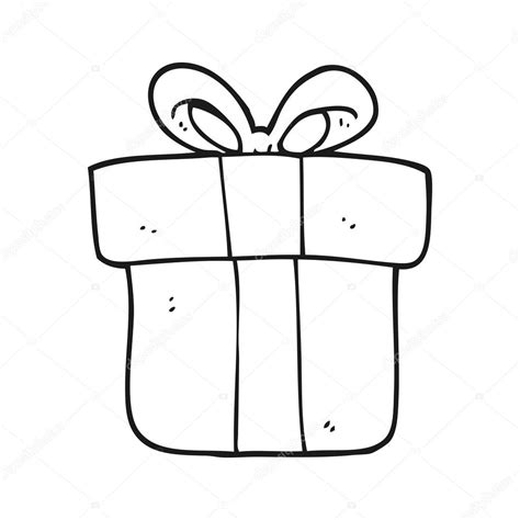 imagenes en blanco de navidad regalo de navidad de dibujos animados blanco y negro