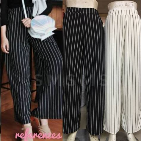 Celana Salur Kulot celana kulot salur import stripe cullotes import kulot