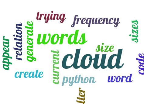 pytagcloud creating word cloud in python words different sizes stack overflow