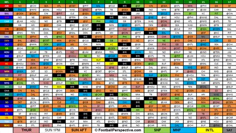 printable nfl schedule one page full nfl schedule printable calendar template 2016