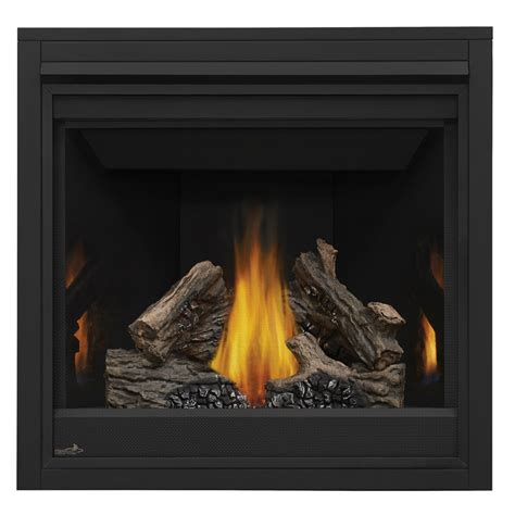 shop continental 35 in direct vent black gas