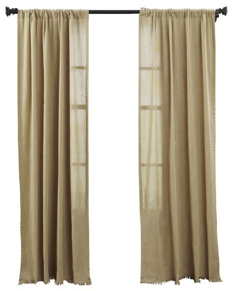 tobacco cloth curtains tobacco cloth khaki panel fringed set of 2 transitional