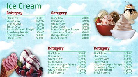 best photos of ice cream shop menu templates ice cream