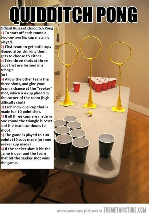 birthday themed drinking games quidditch pong on imgfave
