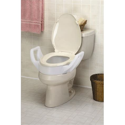 toilet seat with arms maddak elevated toilet seat with arms raised toilet seats