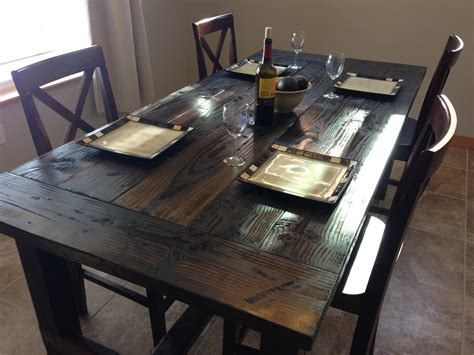 white farm style dining table diy projects