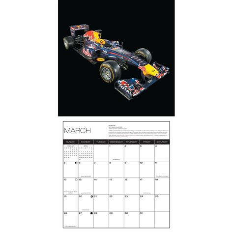 Formula 1 Calendar Of The Formula 1 Race Car Wall Calendar 9780760350614