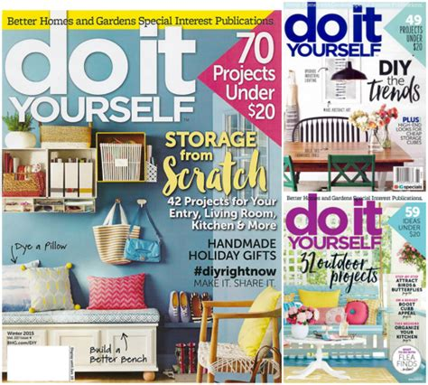 do it yourself magazine just 9 99 per year through monday