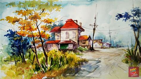 and easy colors how to color a simple and easy landscape with watercolor