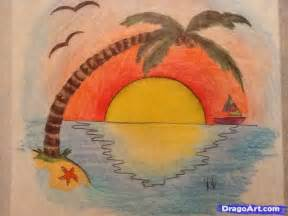 how to draw a sunset with colored pencils drawing an easy sunset added by dauntlesskat13 april 26