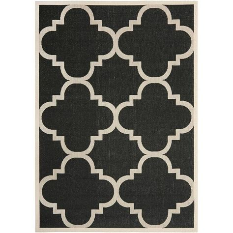Quatrefoil Outdoor Rug Safavieh Courtyard Black And Beige Quatrefoil Indoor Outdoor Rug