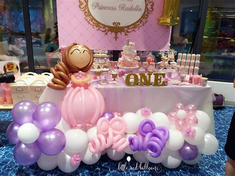 princess theme kids birthday party  red balloon