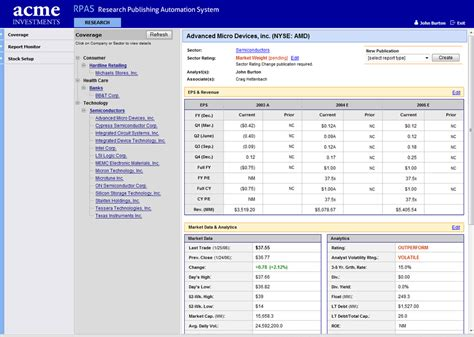 Research Database by Research Database With Market Data Providers Integration