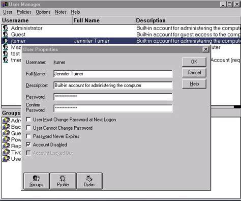windows password reset nt changing your windows logon password for websphere