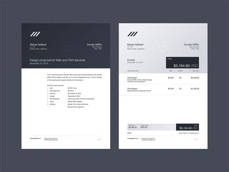 Invoice Letterhead Not Really Web Ui But I Like Invoice Stationary Letterhead Branding And Stationary