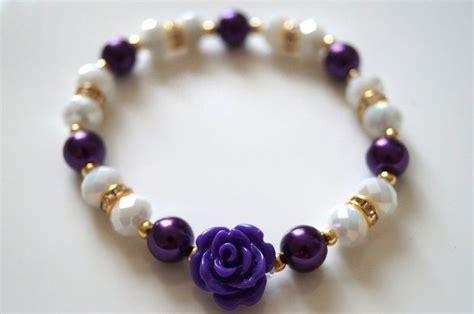 como hacer pulseras con perlas bisuteria pulsera de perlas y cristales swarovski y flor