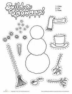 build a snowman coloring page 17 best ideas about worksheets on