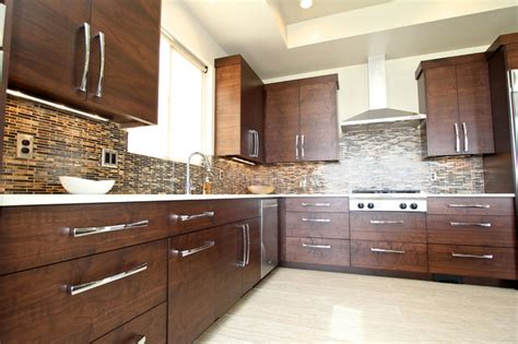 modern walnut kitchen cabinets cabinet refacing as economical friendly solution my