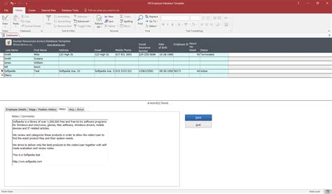 employee database template hr employee database template