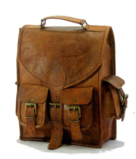 Handmade Rucksack - 13 quot handmade vintage leather macbook briefcase messenger